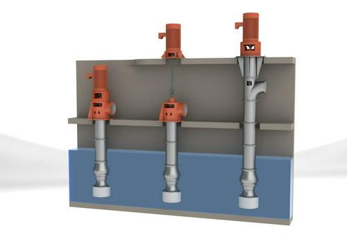 Полупогружные вертикальные турбинные насосы, осевые насосы